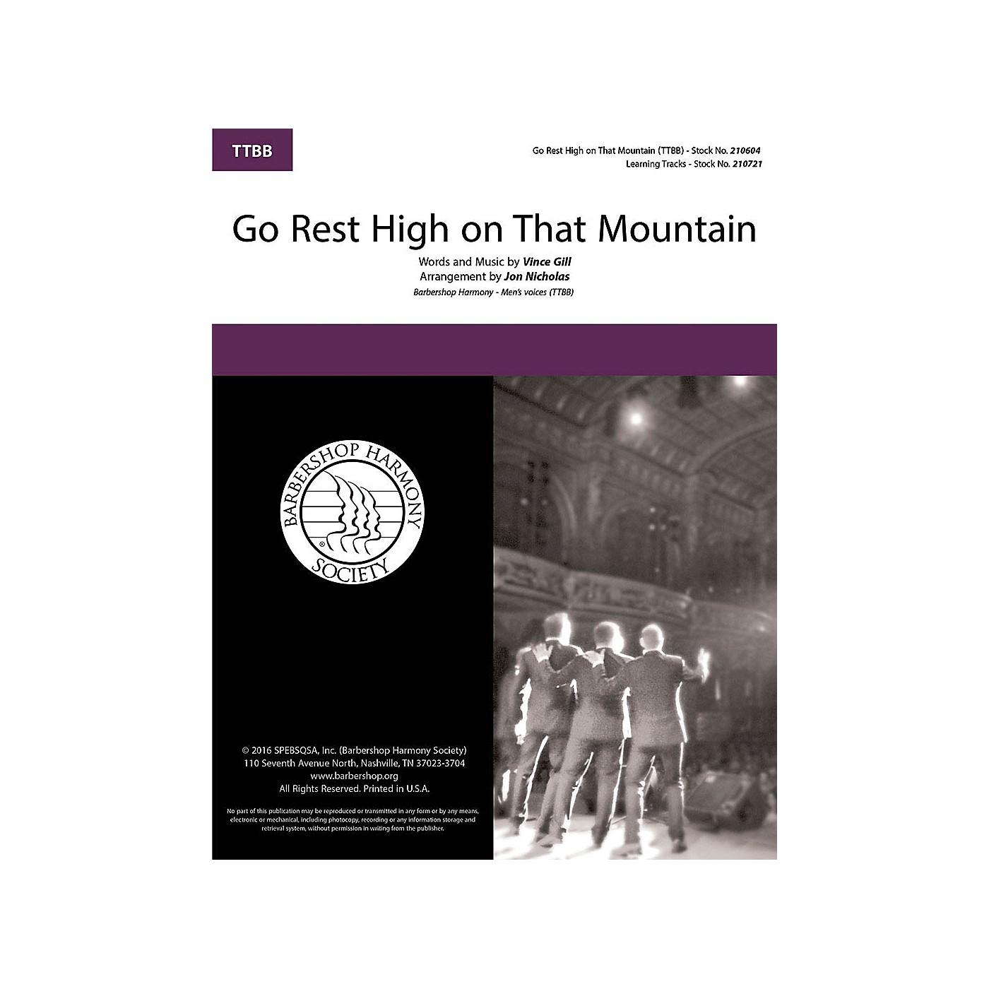 Barbershop Harmony Society Go Rest High on That Mountain TTBB A Cappella arranged by Jon Nicholas thumbnail