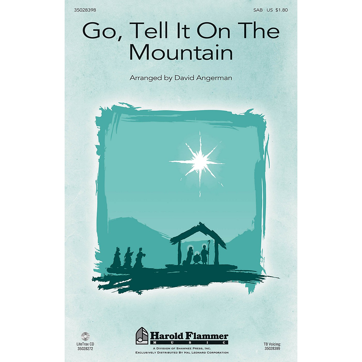 Shawnee Press Go, Tell It on the Mountain SAB arranged by David Angerman thumbnail