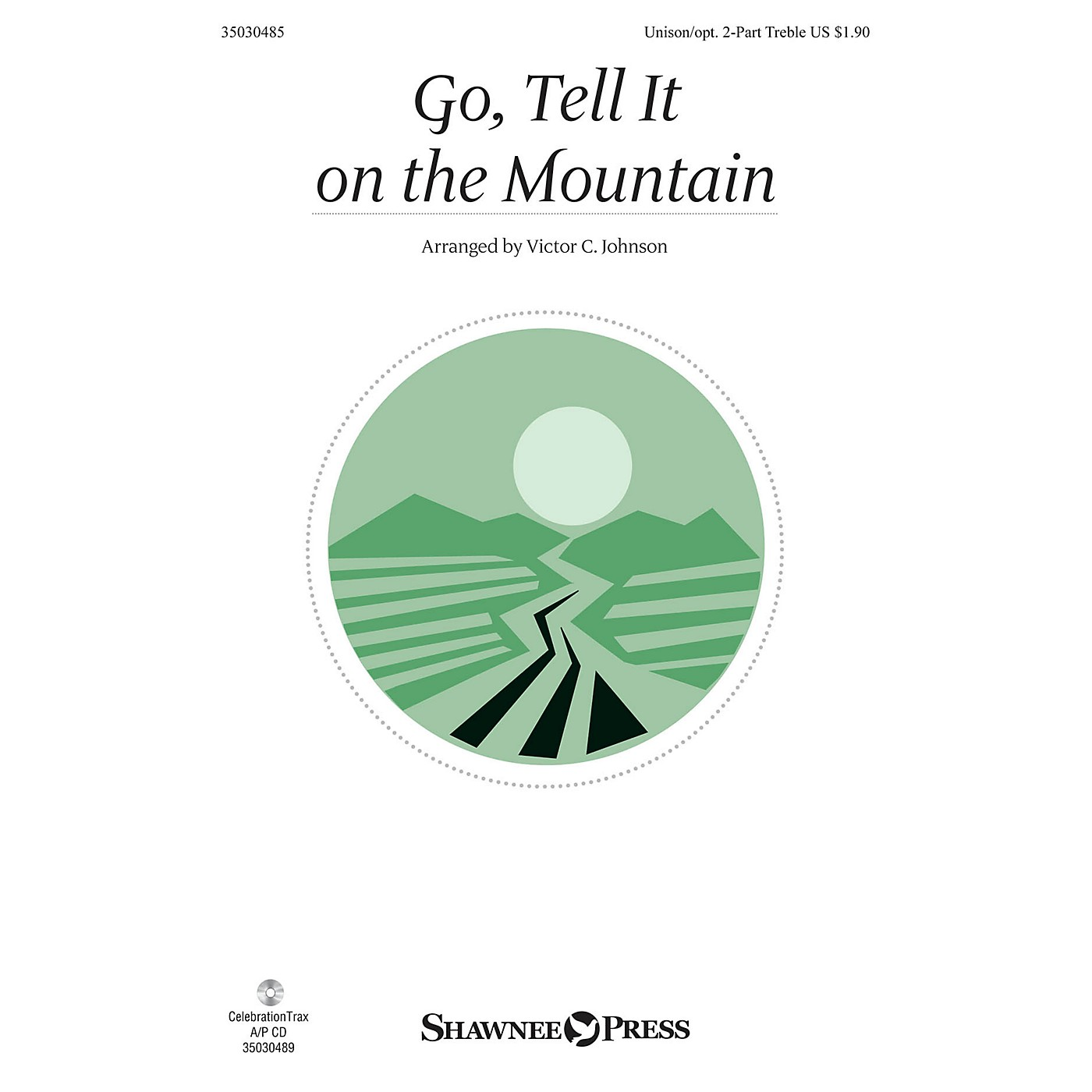 Shawnee Press Go, Tell It on the Mountain Unison/2-Part Treble arranged by Victor Johnson thumbnail