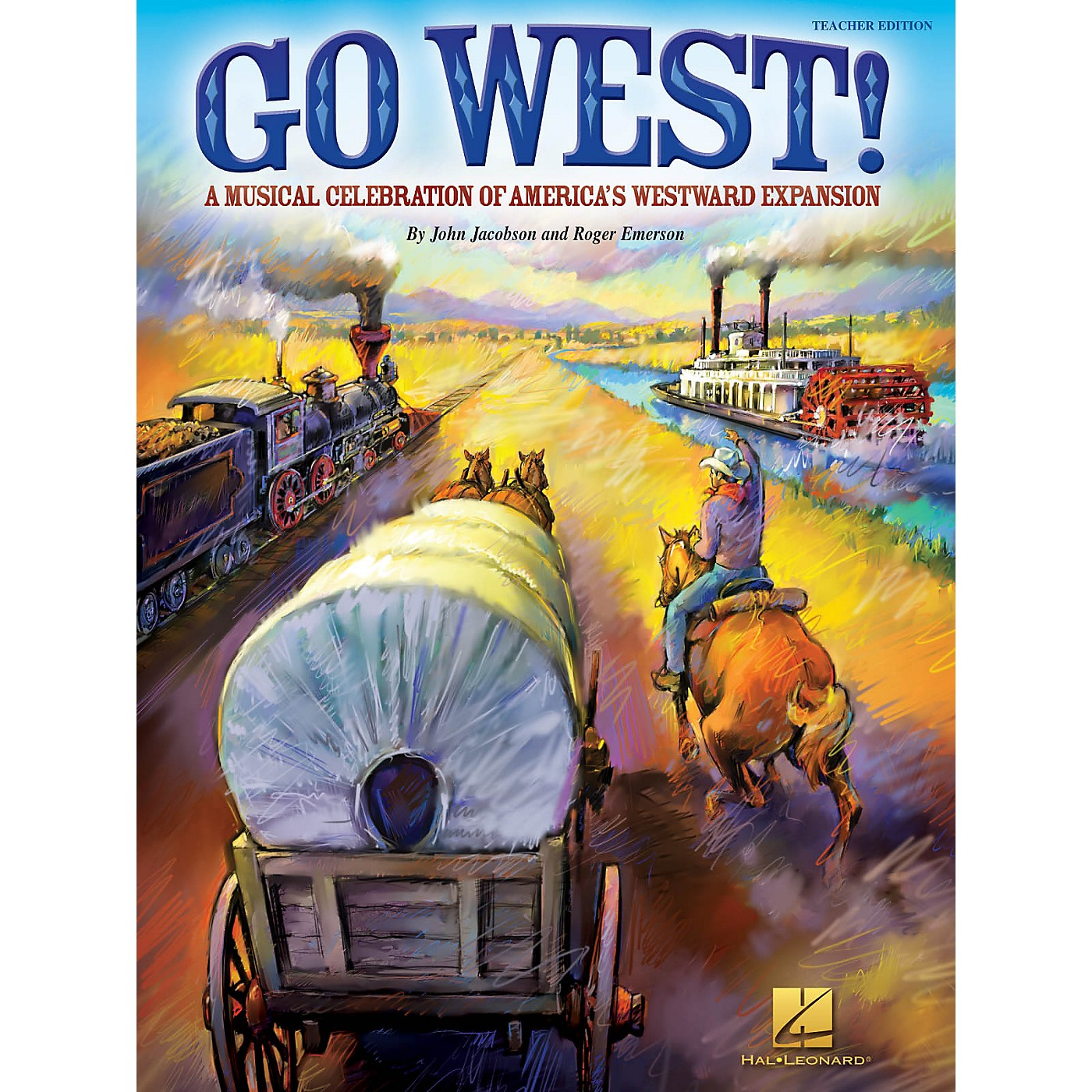 Hal Leonard Go West! (A Musical Celebration of America's Westward Expansion) Singer 5 Pak Composed by Roger Emerson thumbnail