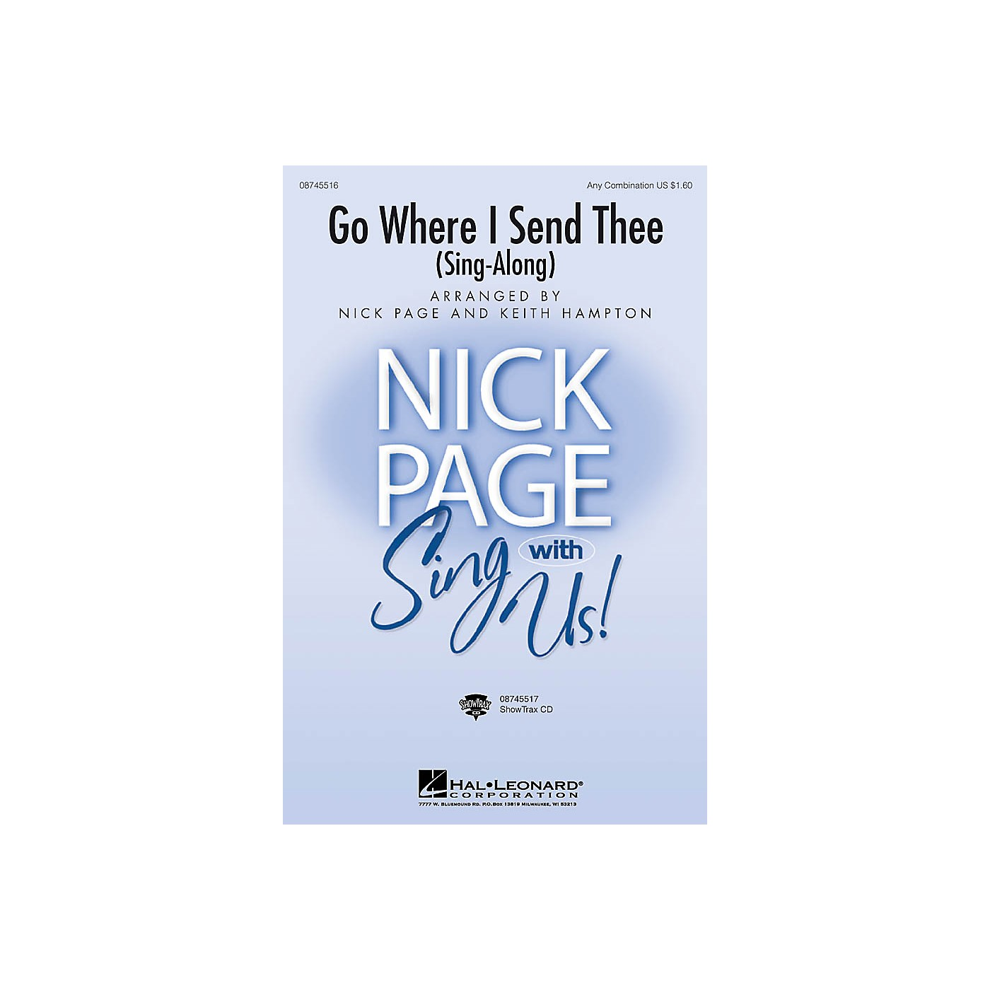 Hal Leonard Go Where I Send Thee (Sing-along) ShowTrax CD Arranged by Nick Page thumbnail