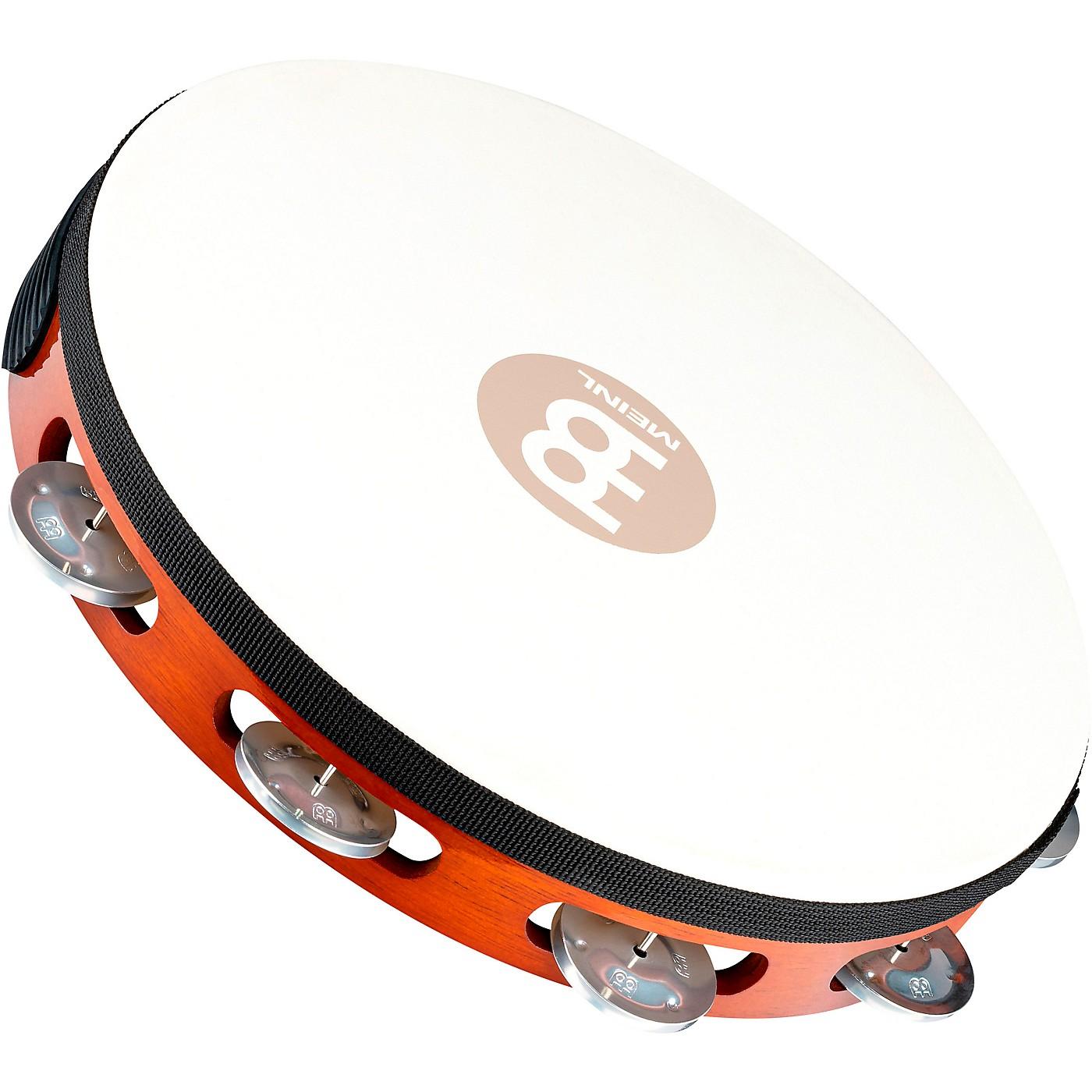 Meinl Goat-Skin Wood Tambourine One Row Aluminum Jingles thumbnail