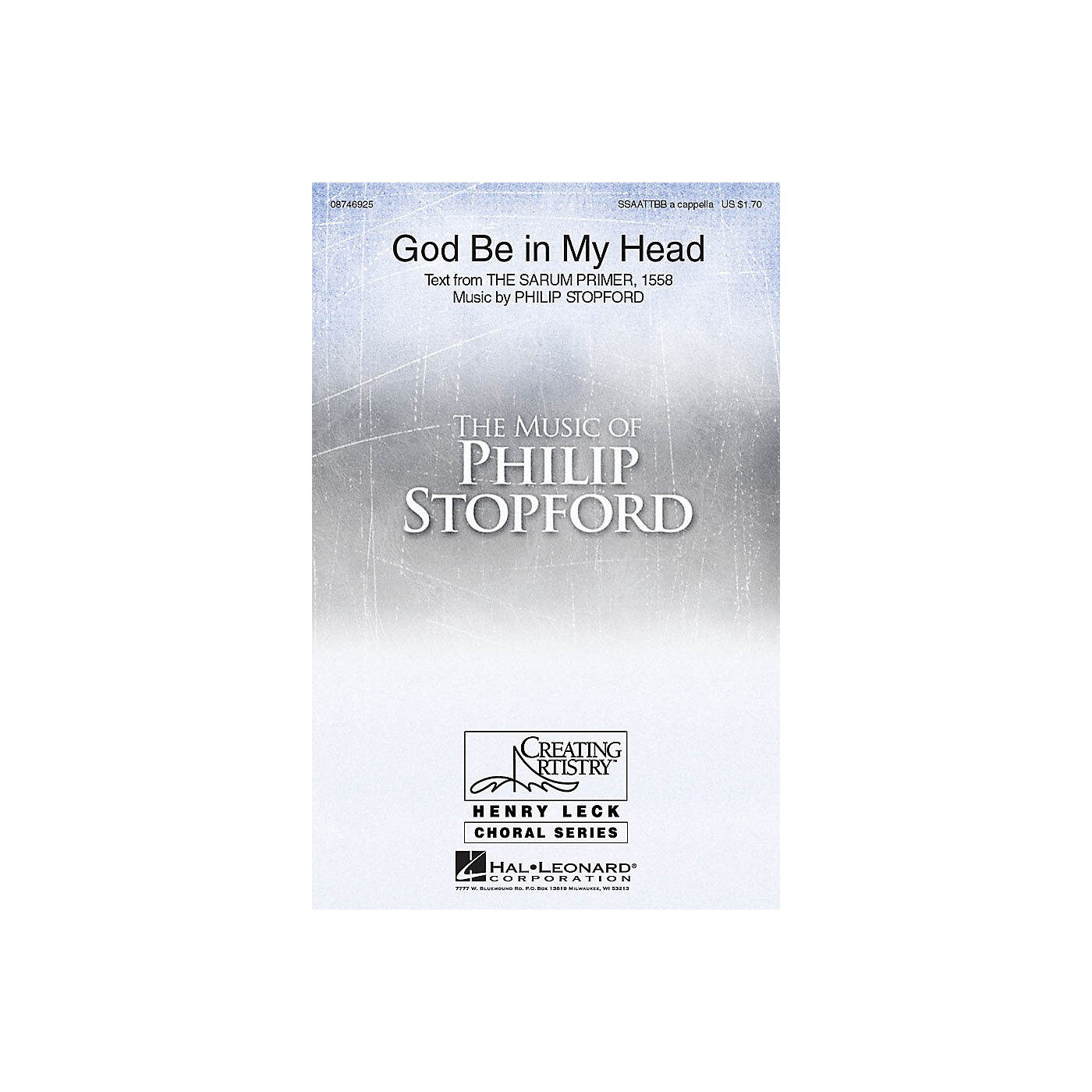 Hal Leonard God Be in My Head SSAATTBB A Cappella composed by Philip Stopford thumbnail
