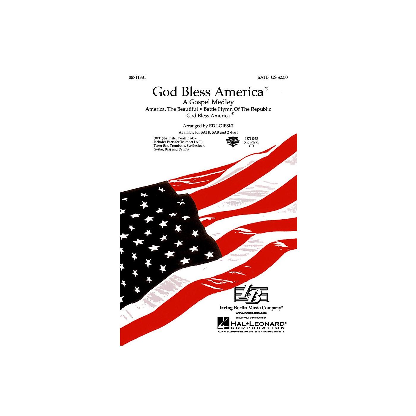 Hal Leonard God Bless America® - A Gospel Medley (SATB) SATB arranged by Ed Lojeski thumbnail