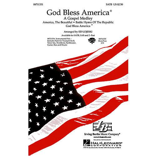 Hal Leonard God Bless America® - A Gospel Medley (SATB) SATB arranged by Ed Lojeski thumbnail