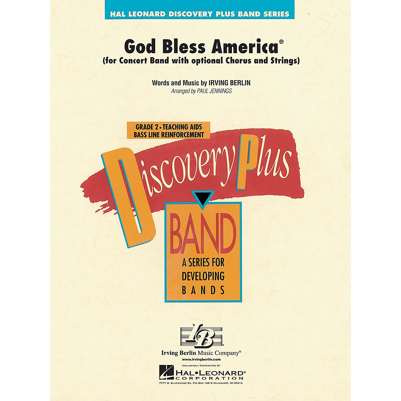 Hal Leonard God Bless America® - Discovery Plus Concert Band Series Level 2 arranged by Paul Jennings thumbnail