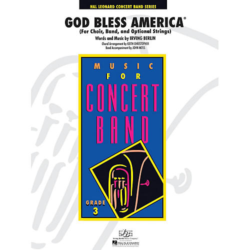 Hal Leonard God Bless America - Young Concert Band Series Level 3 arranged by Keith Christopher, John Moss thumbnail