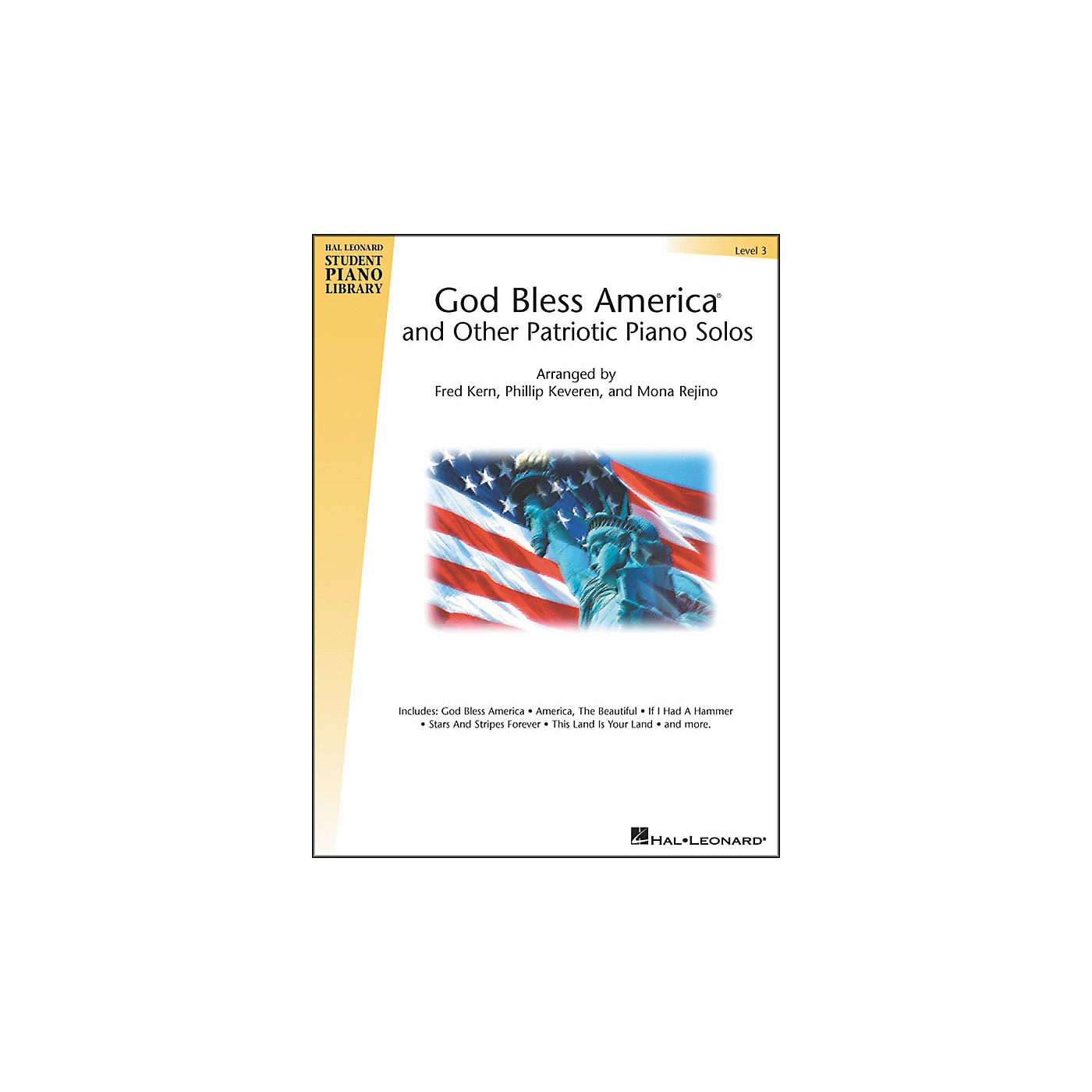 Hal Leonard God Bless America And Other Patriotic Piano Solos Level 3 Hal Leonard Student Piano Library thumbnail