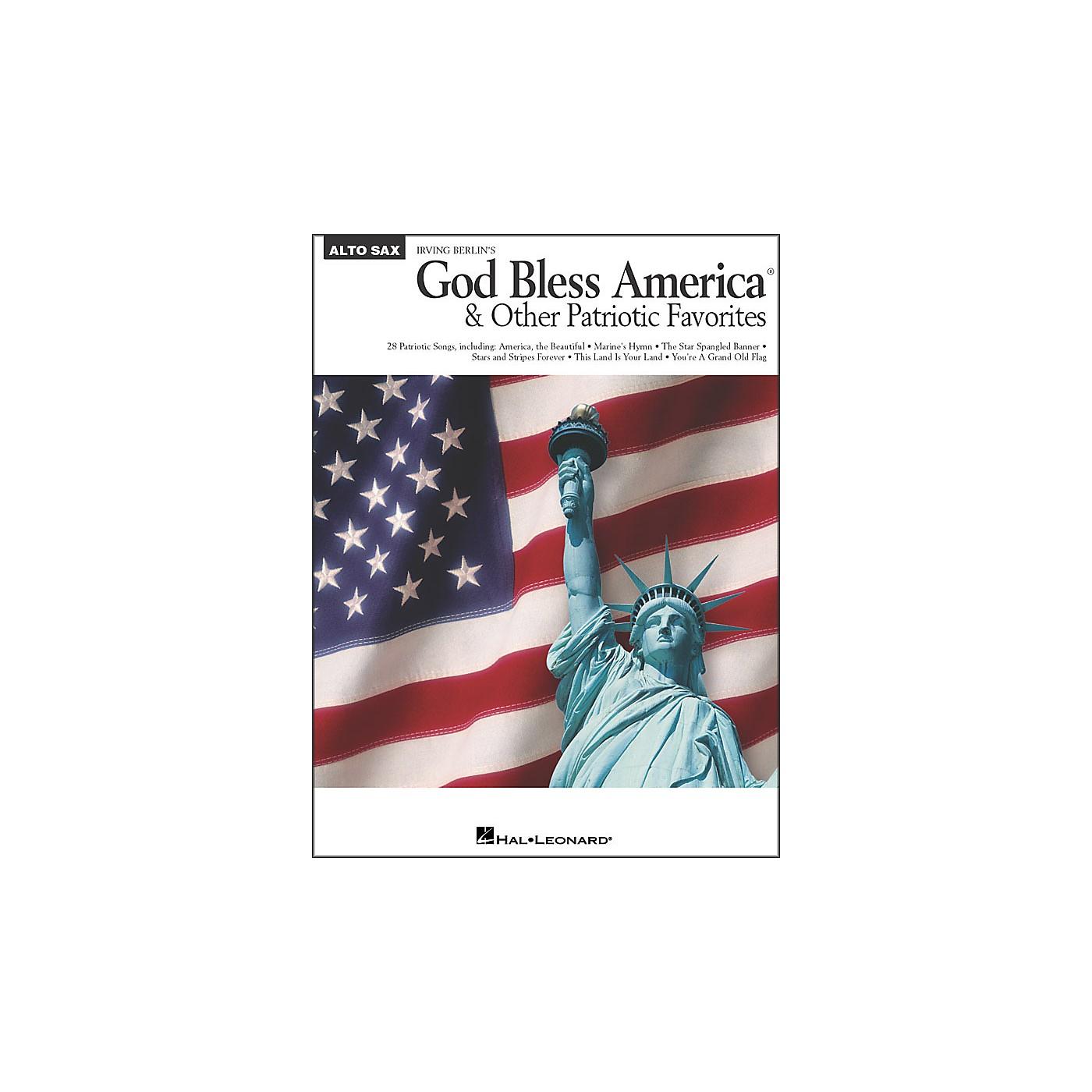 Hal Leonard God Bless America & Other Patriotic Favorites - Alto Sax thumbnail