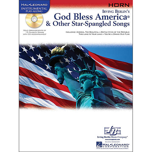 Hal Leonard God Bless America & Other Star-Spangled Songs for French Horn Instrumental Play-Along Book/CD thumbnail