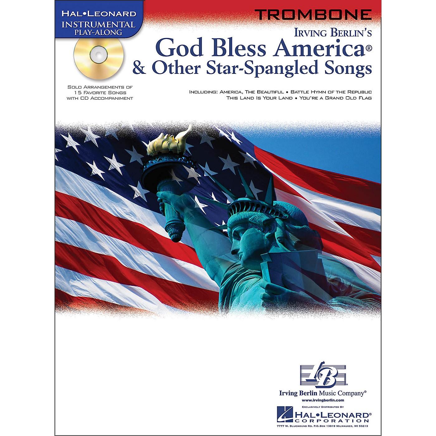 Hal Leonard God Bless America & Other Star Spangled Songs for Trombone instrumental Play-Along Book/CD thumbnail