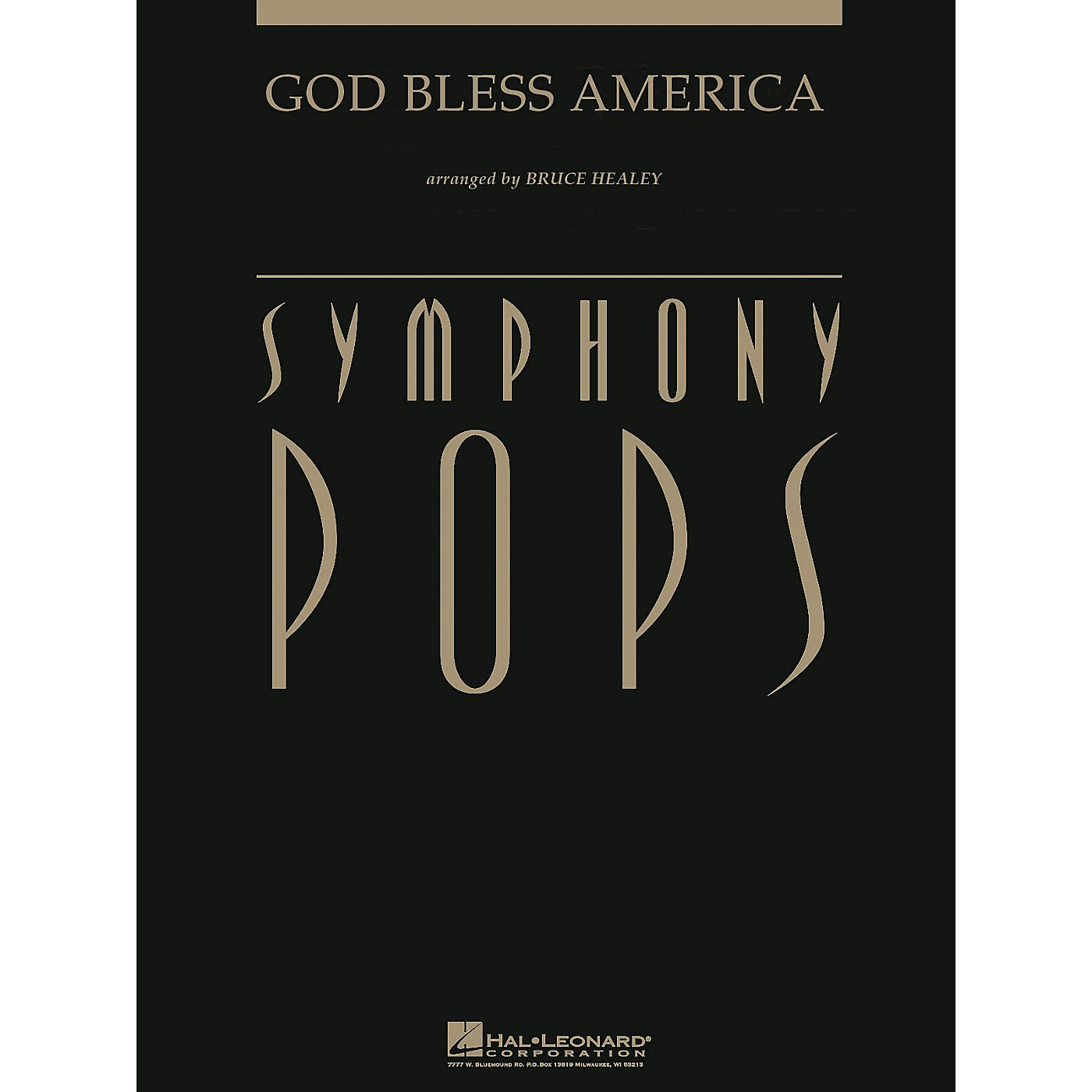 Hal Leonard God Bless America (with opt. Narrator Deluxe Score) Arranged by Bruce Healey thumbnail