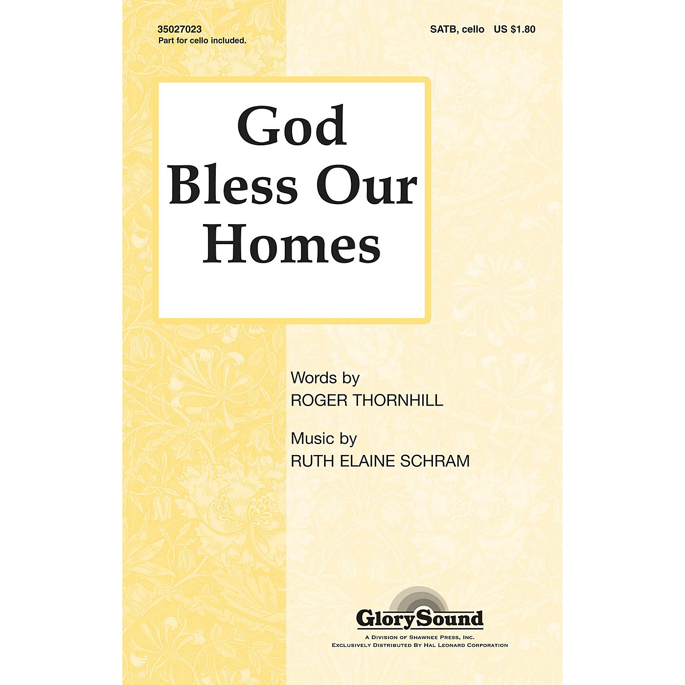 Shawnee Press God Bless Our Homes SATB composed by Ruth Elaine Schram thumbnail