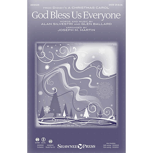 Shawnee Press God Bless Us Everyone ORCHESTRA ACCOMPANIMENT by Andrea Bocelli Arranged by Joseph M. Martin thumbnail