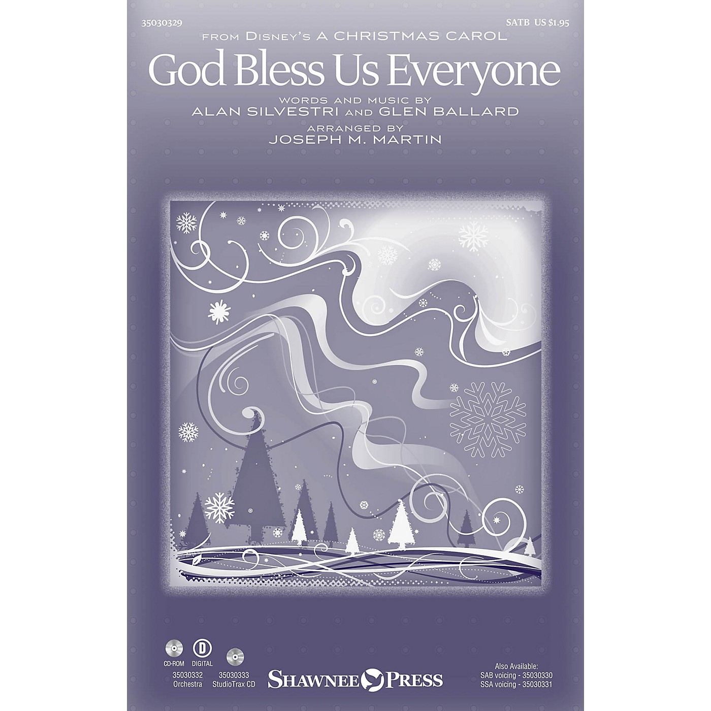Shawnee Press God Bless Us Everyone SAB by Andrea Bocelli Arranged by Joseph M. Martin thumbnail