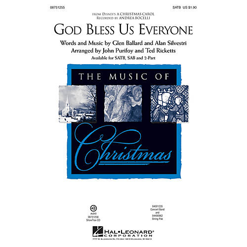 Hal Leonard God Bless Us Everyone (from Disney's A Christmas Carol) SAB by Andrea Bocelli Arranged by Ted Ricketts thumbnail