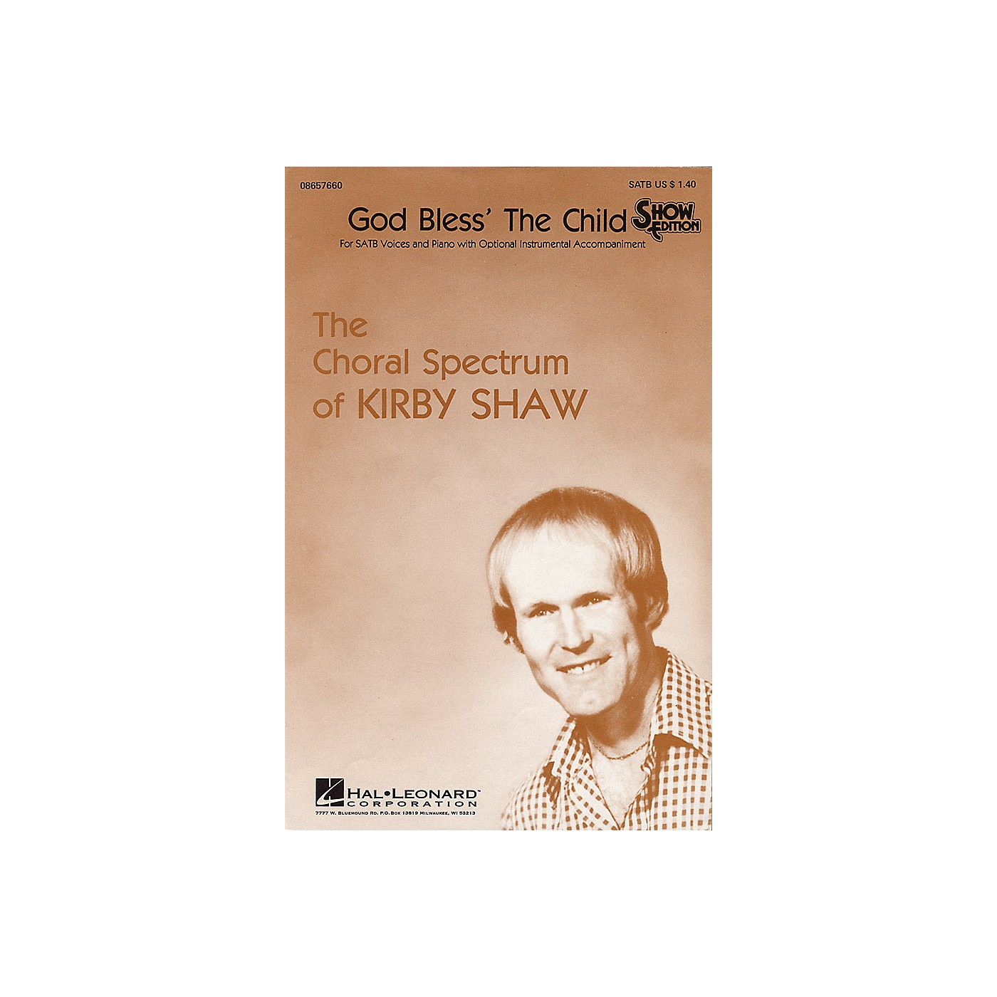 Hal Leonard God Bless the Child SATB arranged by Kirby Shaw thumbnail