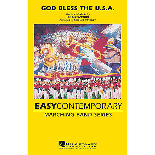 MCA God Bless the U.S.A. Marching Band Level 2 by Lee Greenwood Arranged by Michael Sweeney thumbnail