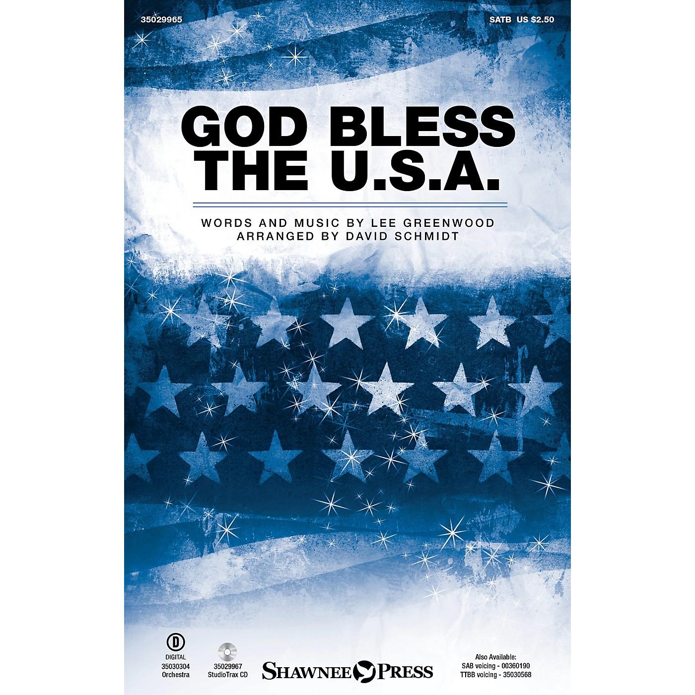 Shawnee Press God Bless the U.S.A. Studiotrax CD by Lee Greenwood Arranged by David Schmidt thumbnail