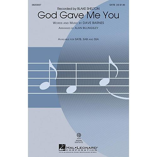 Hal Leonard God Gave Me You ShowTrax CD by Blake Shelton Arranged by Alan Billingsley thumbnail
