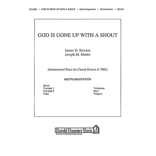 Shawnee Press God Is Gone Up with a Shout BRASS & TIMPANI composed by David Angerman thumbnail