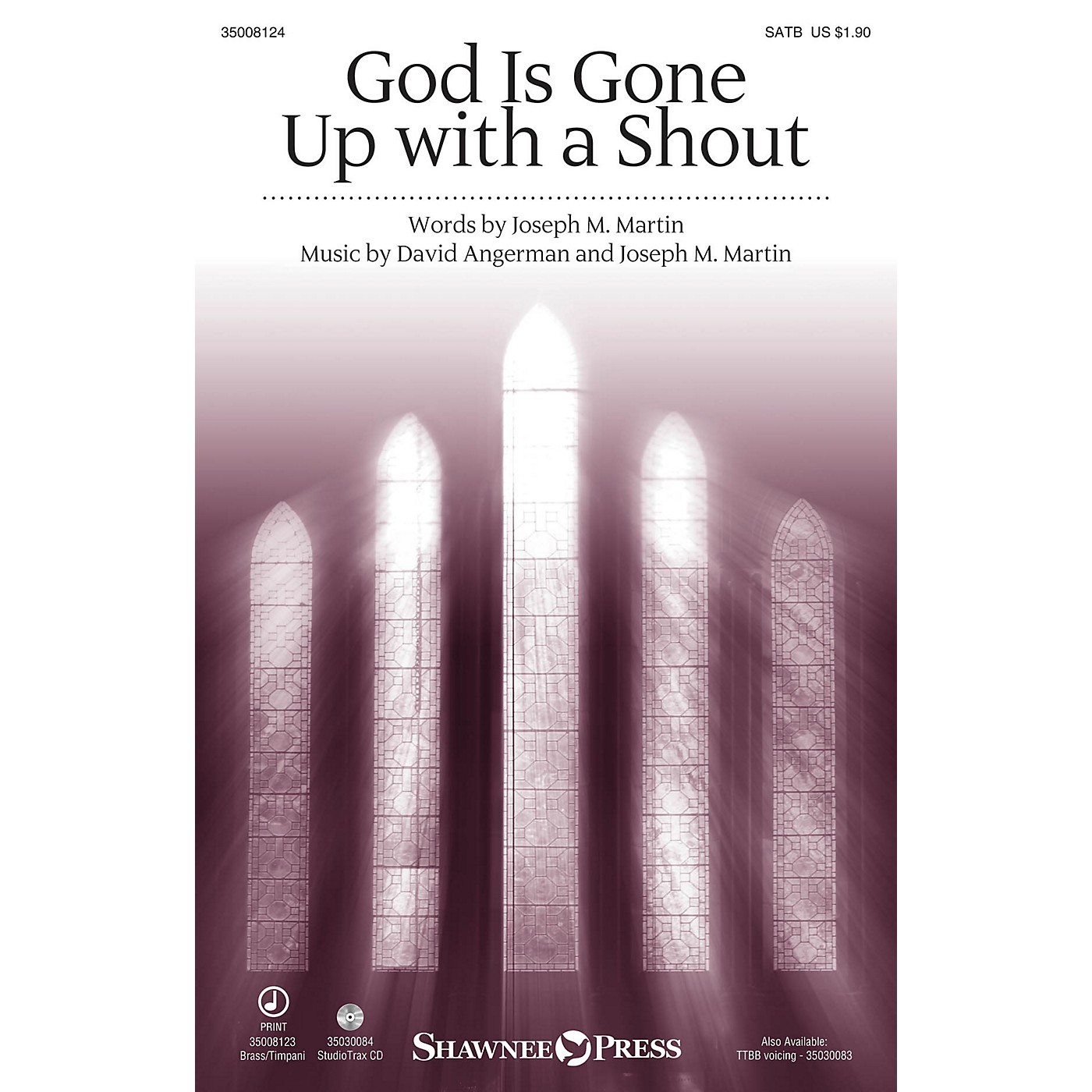 Shawnee Press God Is Gone Up with a Shout SATB arranged by Stan Pethel thumbnail