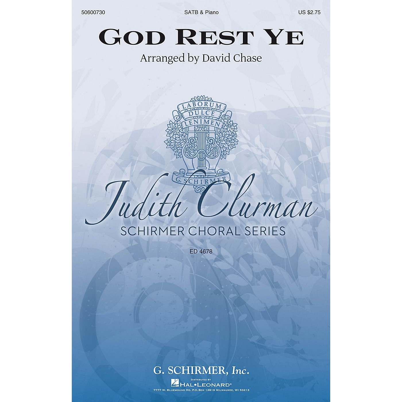 G. Schirmer God Rest Ye (Judith Clurman Choral Series) SATB arranged by David Chase thumbnail