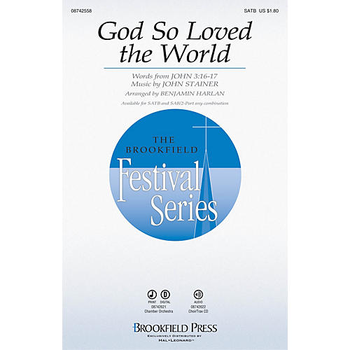 Brookfield God So Loved the World CHAMBER ORCHESTRA ACCOMP Arranged by Benjamin Harlan thumbnail