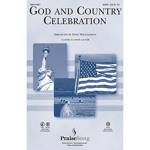 PraiseSong God and Country Celebration (Medley) CHOIRTRAX CD Arranged by Dave Williamson thumbnail