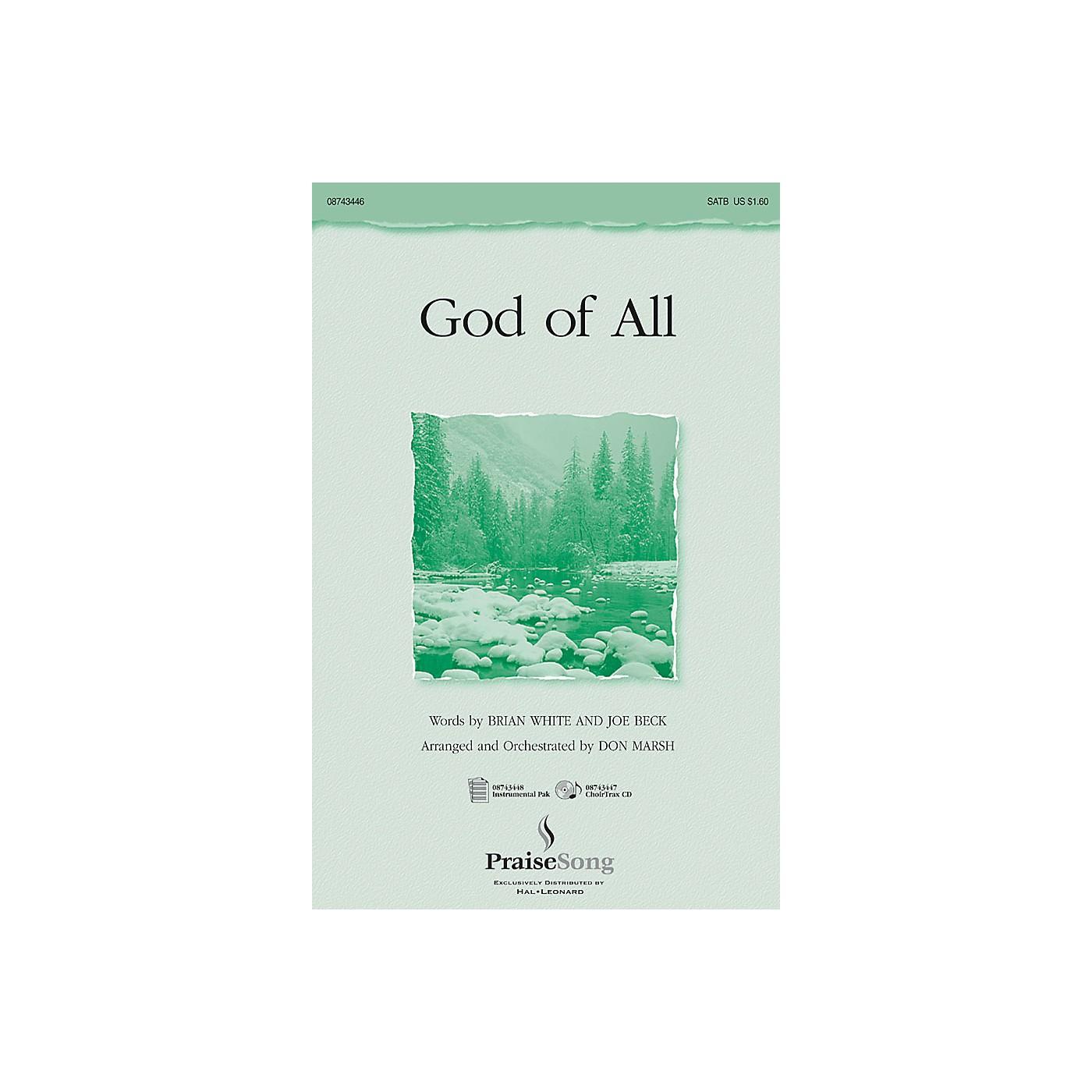 Hal Leonard God of All SATB arranged by Don Marsh thumbnail
