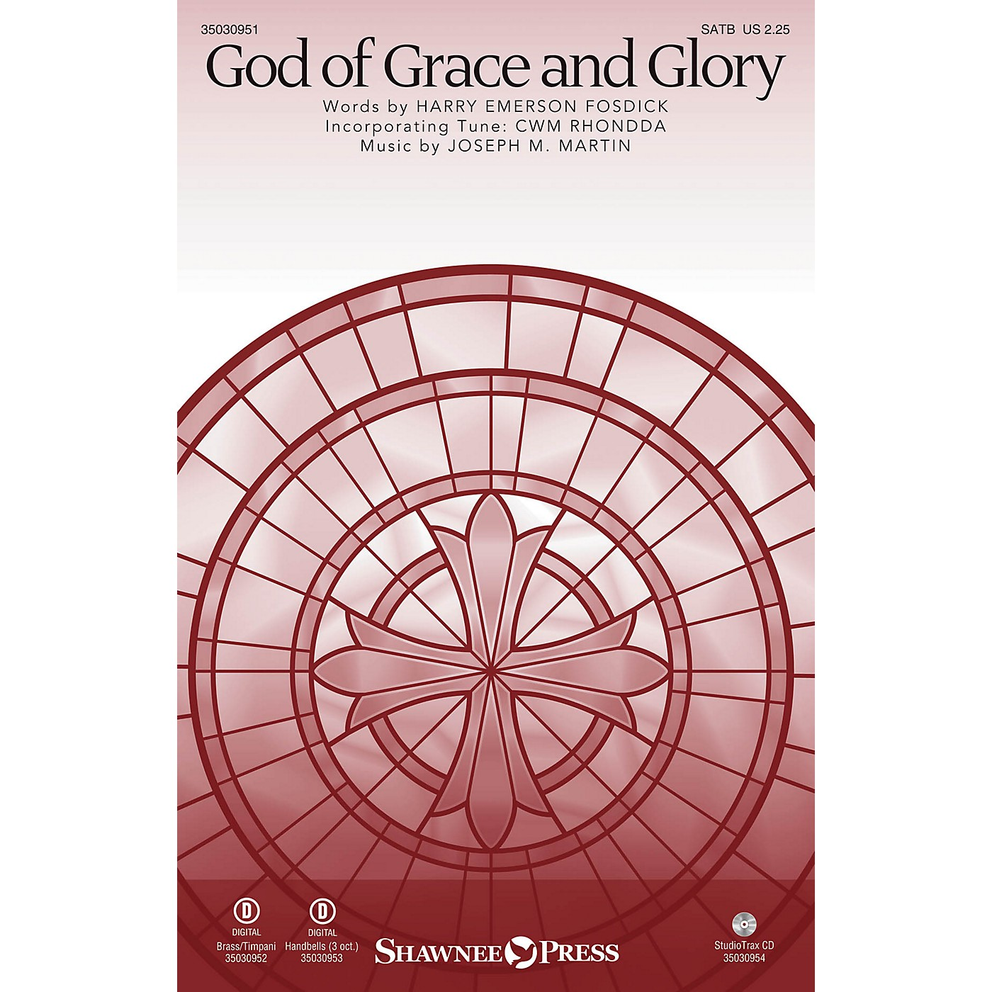 Shawnee Press God of Grace and Glory SATB/CONGREGATION composed by Joseph M. Martin thumbnail