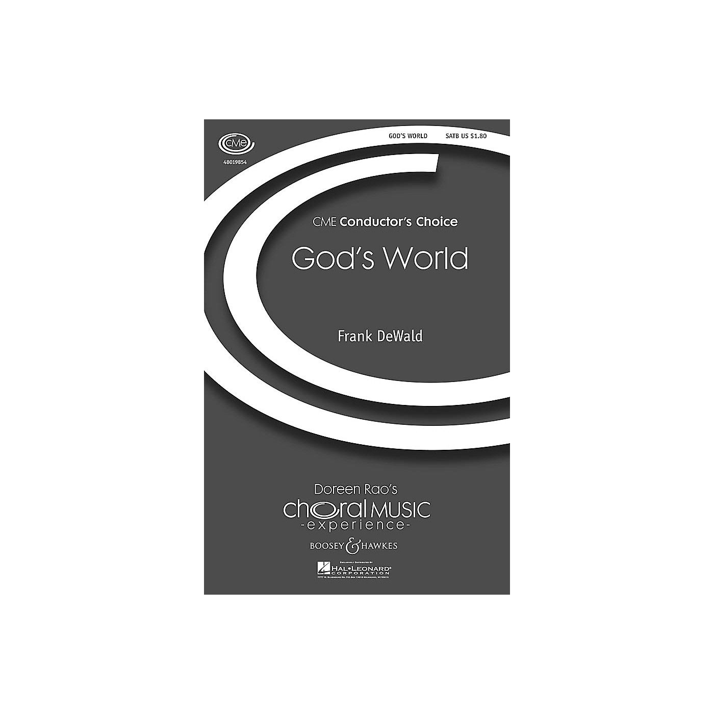 Boosey and Hawkes God's World (CME Conductor's Choice) SATB composed by Frank DeWald thumbnail