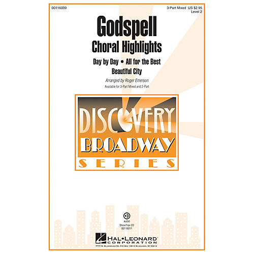 Hal Leonard Godspell (Choral Highlights Discovery Level 2 2-Part) 2-Part Arranged by Roger Emerson thumbnail