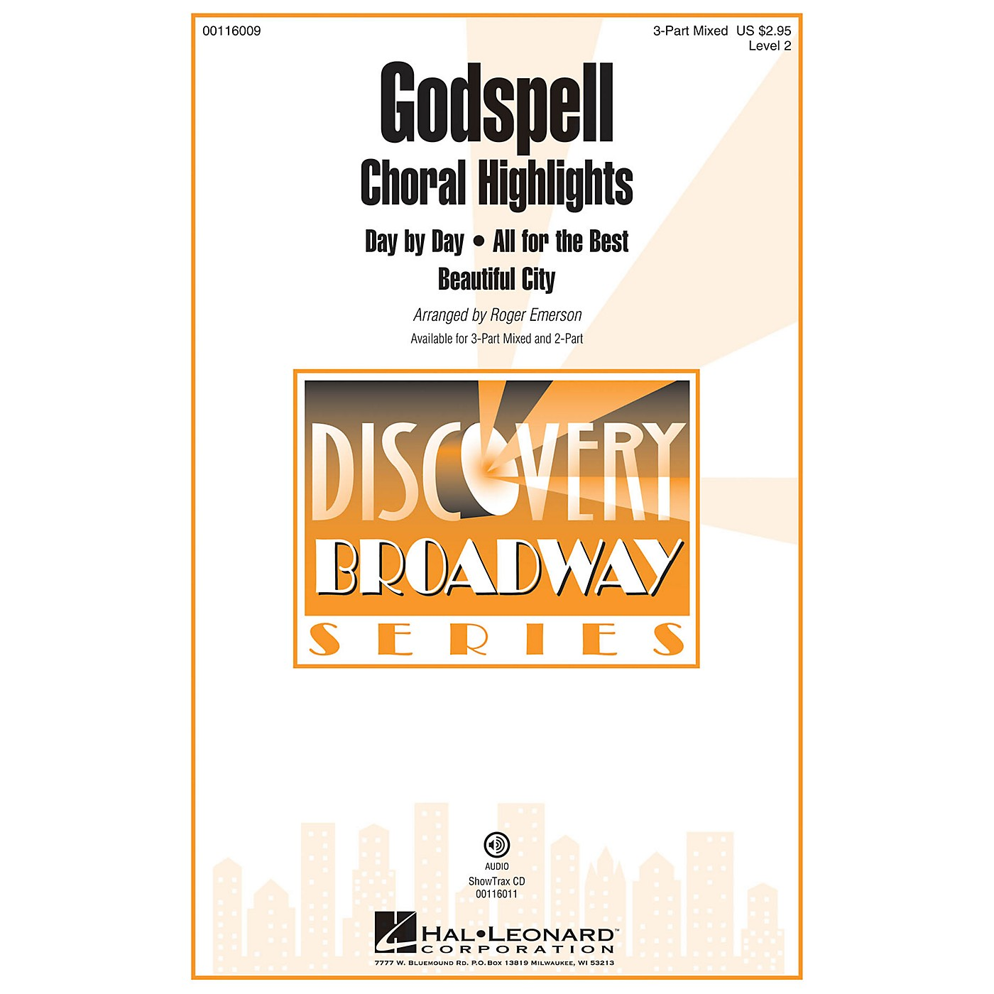 Hal Leonard Godspell (Choral Highlights Discovery Level 2) ShowTrax CD Arranged by Roger Emerson thumbnail
