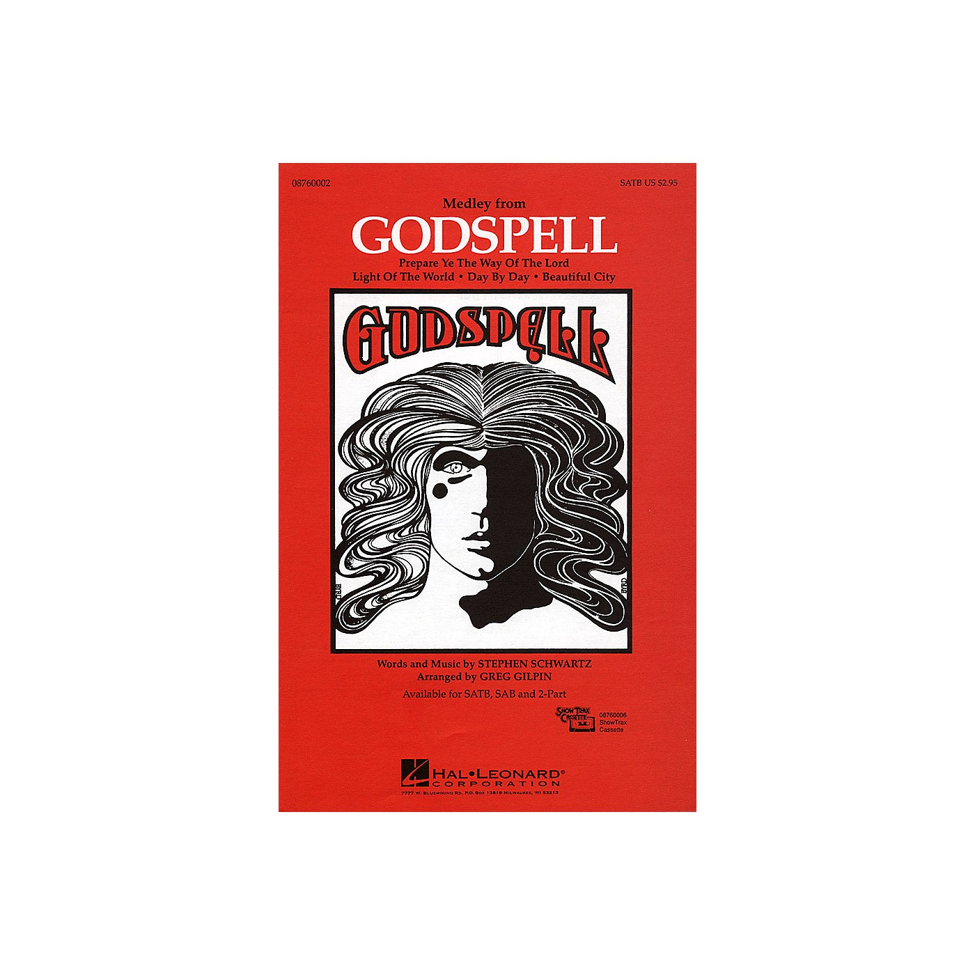 Hal Leonard Godspell (Medley) SATB arranged by Greg Gilpin thumbnail