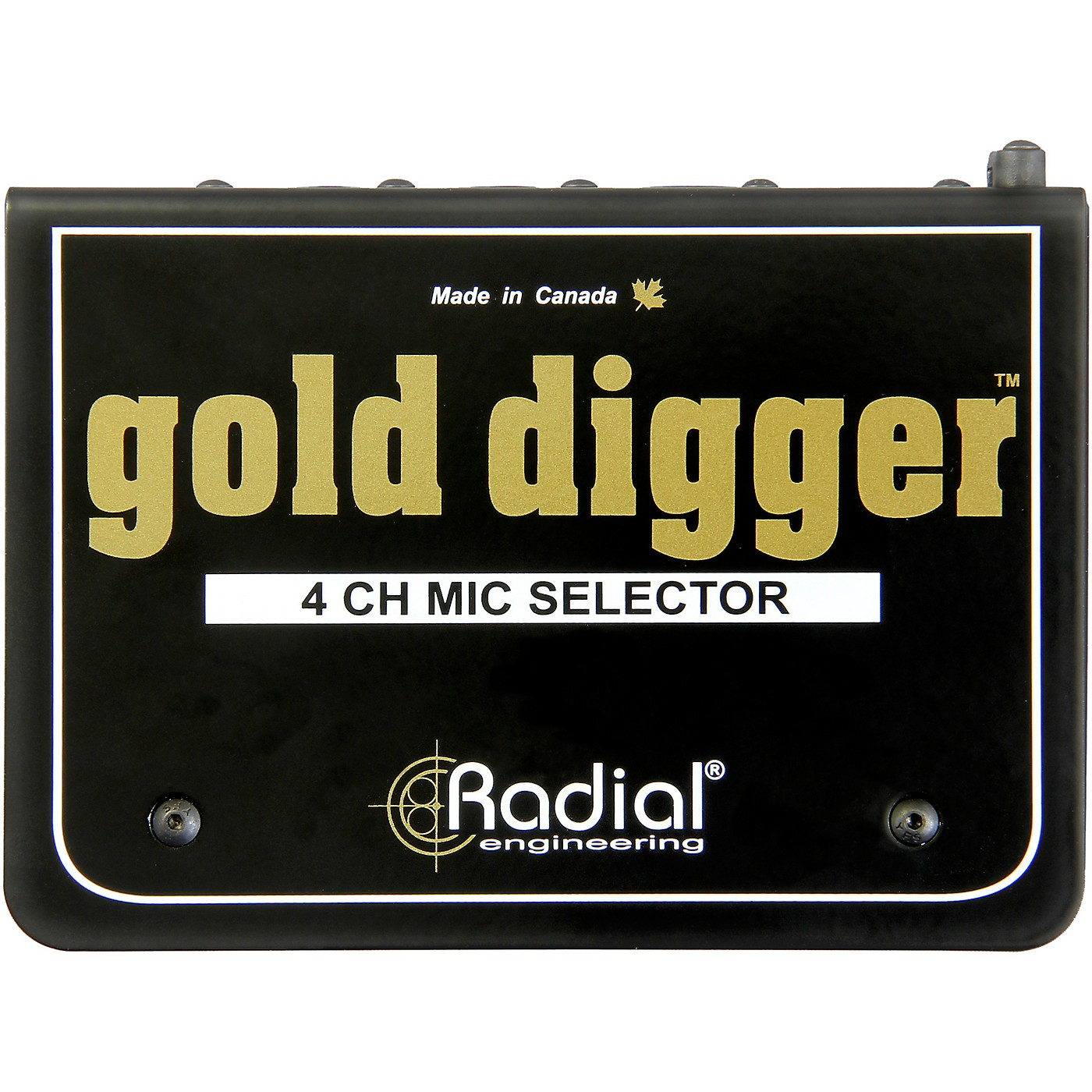 Radial Engineering Gold Digger 4-Channel Mic Selector thumbnail