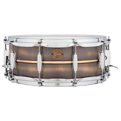 Gretsch Drums Gold Series Brushed Brass Snare Drum thumbnail