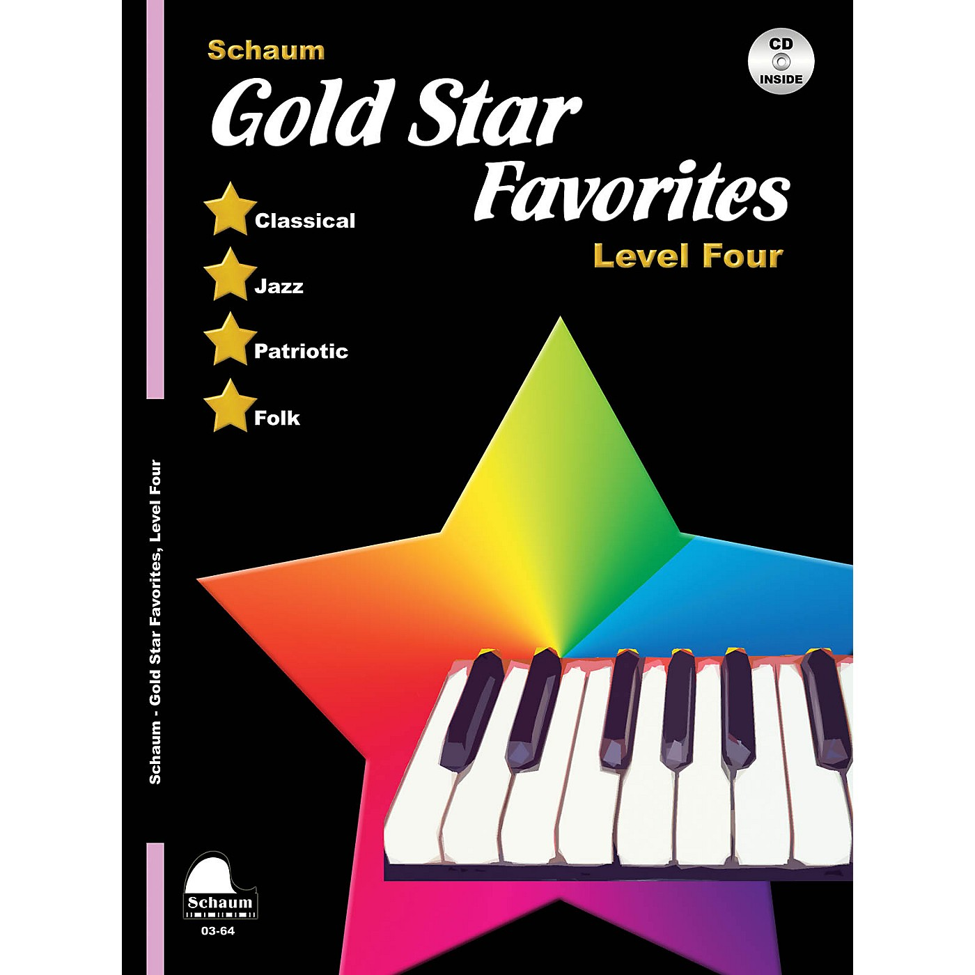SCHAUM Gold Star Favorites (Level Four) Educational Piano Book with CD (Level Early Elem) thumbnail