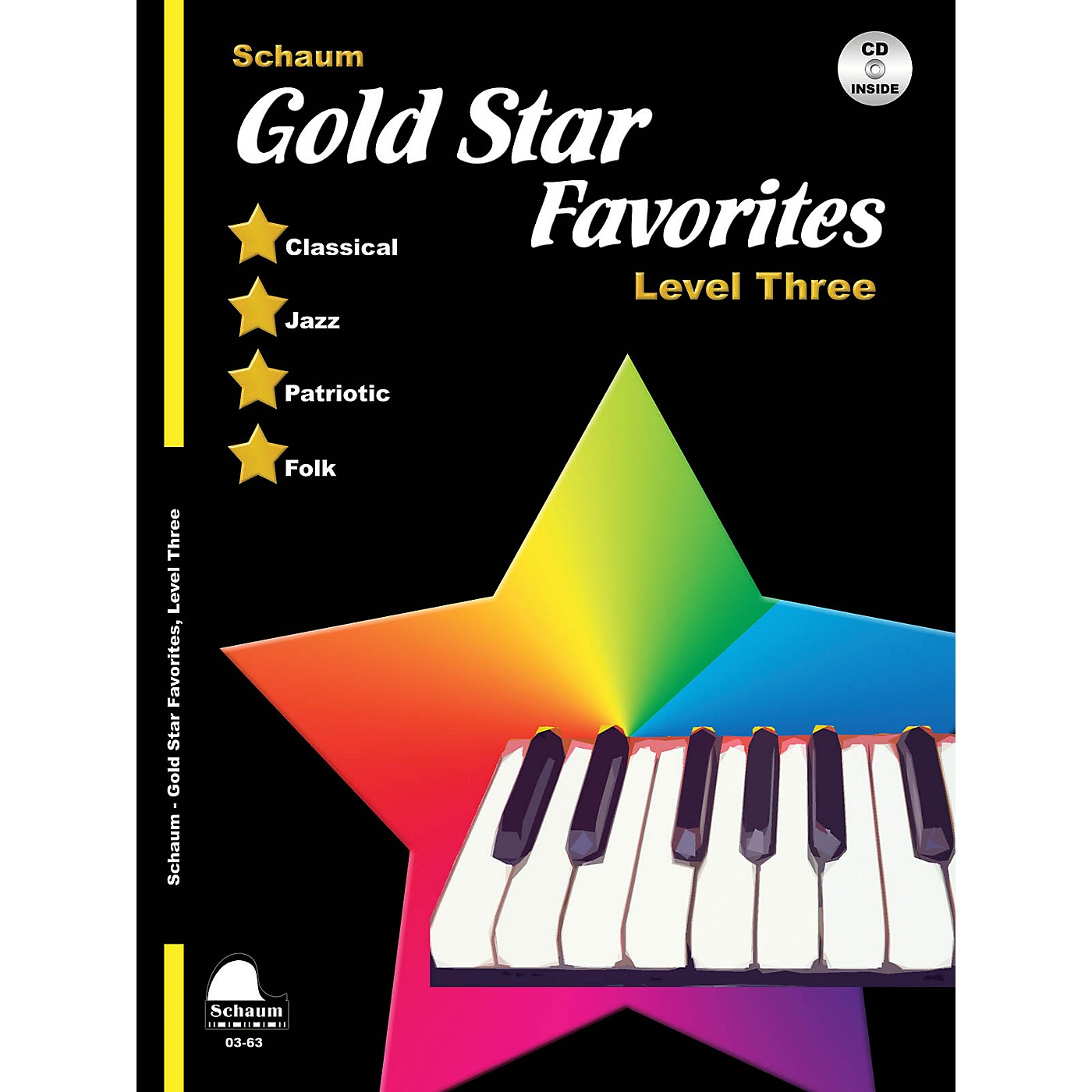 SCHAUM Gold Star Favorites (Level Three) Educational Piano Book with CD (Level Early Inter) thumbnail