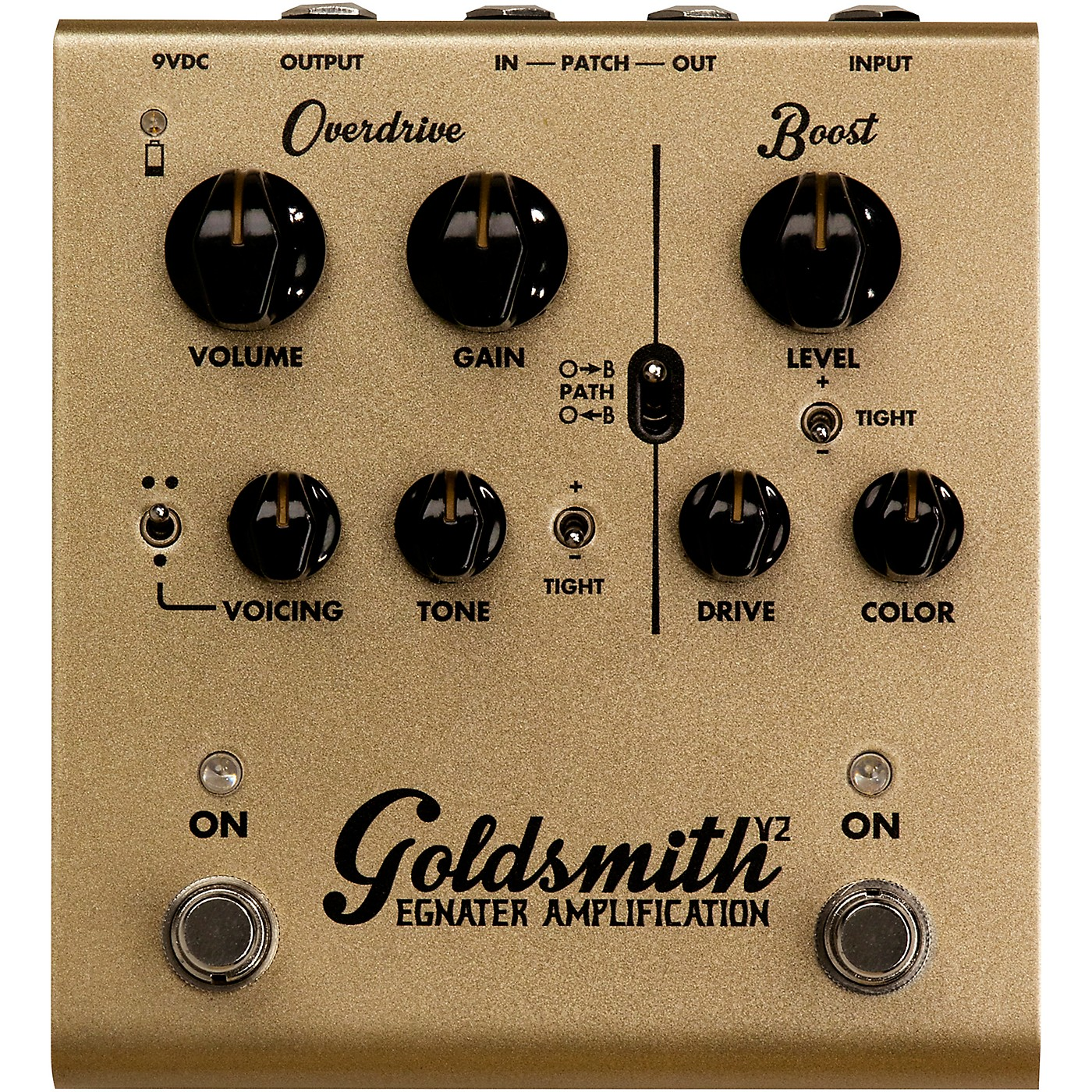 Egnater Goldsmith V2 Overdrive/Boost Guitar Effects Pedal thumbnail