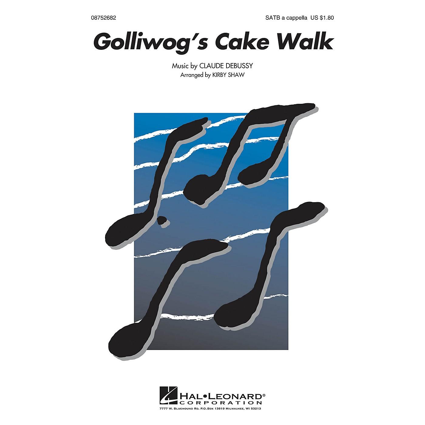 Hal Leonard Golliwogg's Cake Walk SATB a cappella arranged by Kirby Shaw thumbnail
