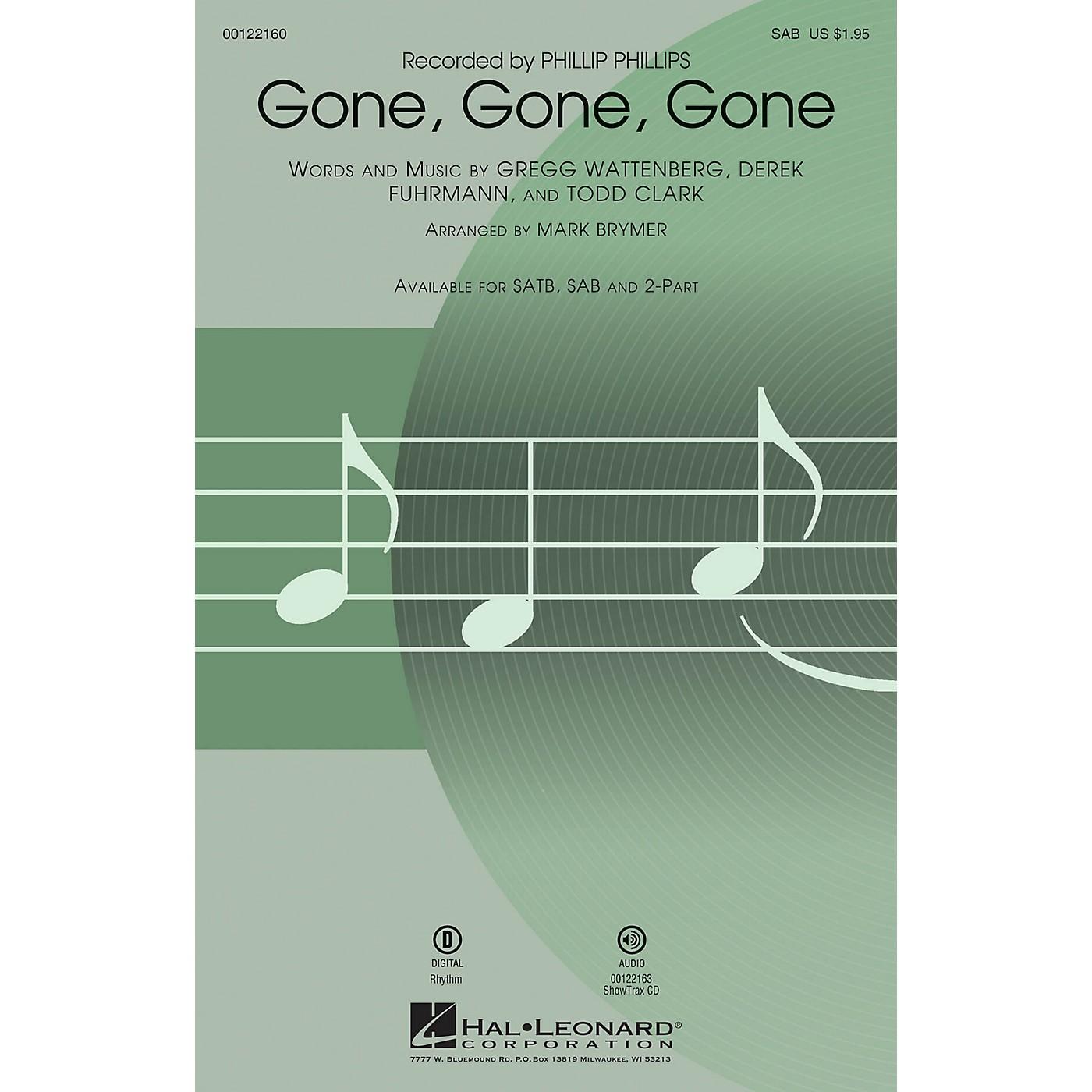 Hal Leonard Gone, Gone, Gone SAB by Phillip Phillips arranged by Mark Brymer thumbnail