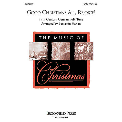 Brookfield Good Christians All, Rejoice! CHOIRTRAX CD Arranged by Benjamin Harlan thumbnail