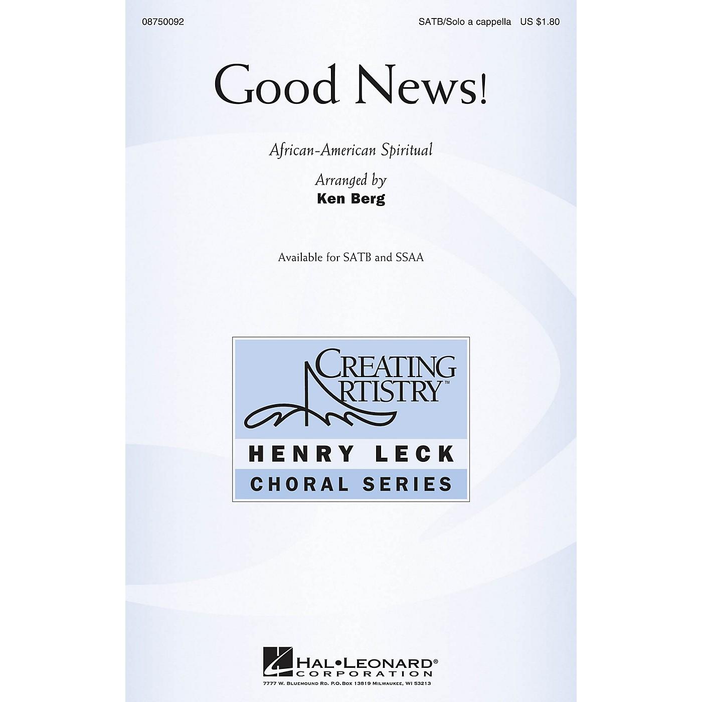 Hal Leonard Good News! SATB and Solo A Cappella arranged by Ken Berg thumbnail