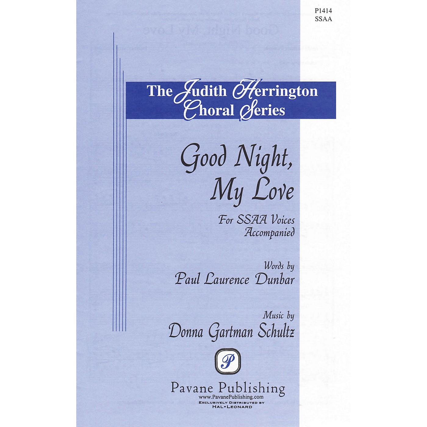 Pavane Good Night, My Love SSAA composed by Donna Gartman Schultz thumbnail
