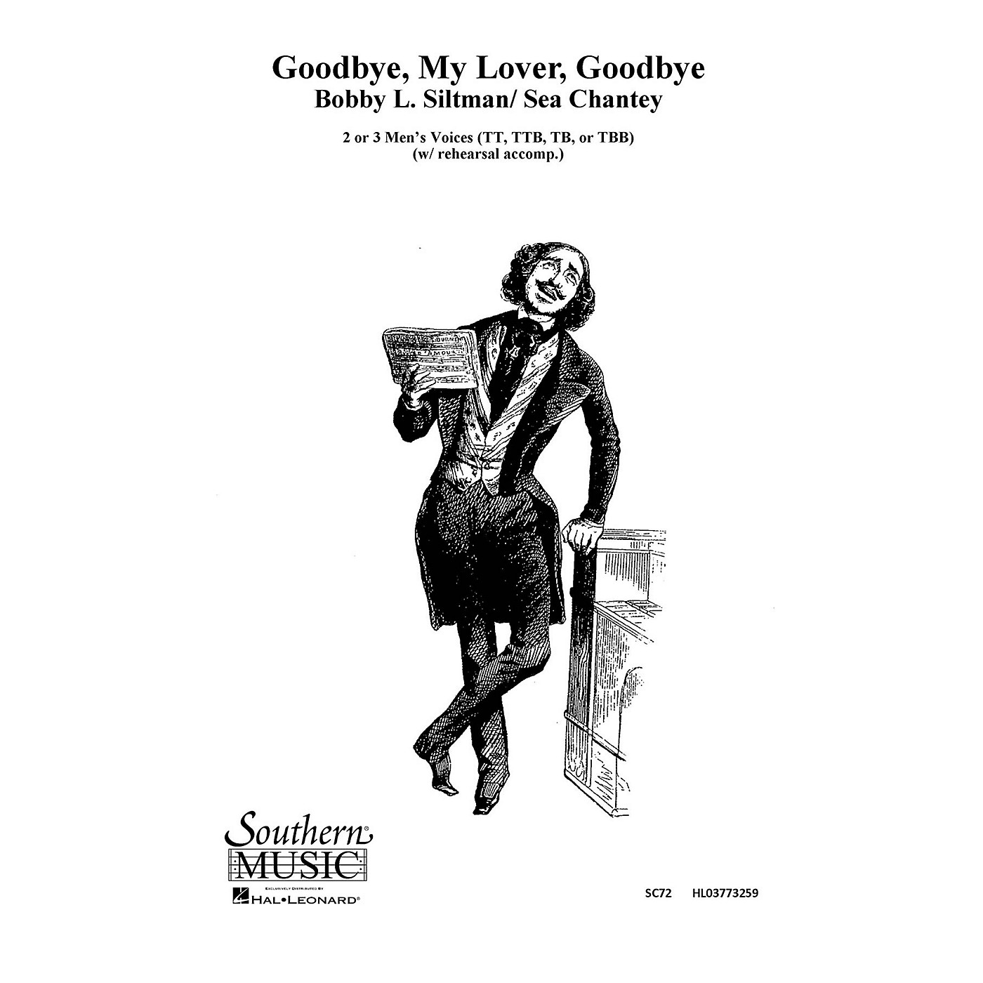 Hal Leonard Goodbye, My Lover, Goodbye (Choral Music/Octavo Sacred 2-part) TTB Composed by Siltman, Bobby thumbnail