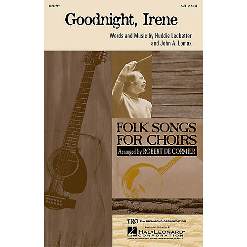 Hal Leonard Goodnight Irene SATB by The Weavers arranged by Robert De Cormier thumbnail