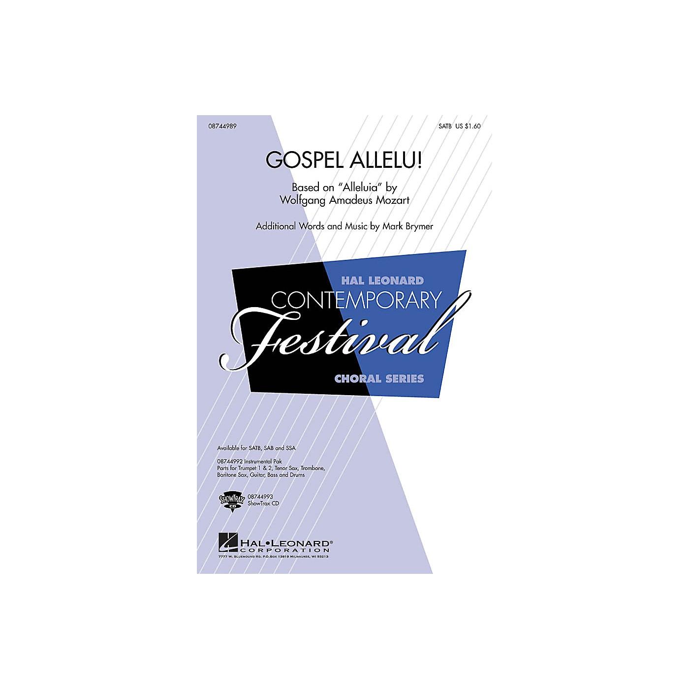 Hal Leonard Gospel Allelu! SAB Arranged by Mark Brymer thumbnail