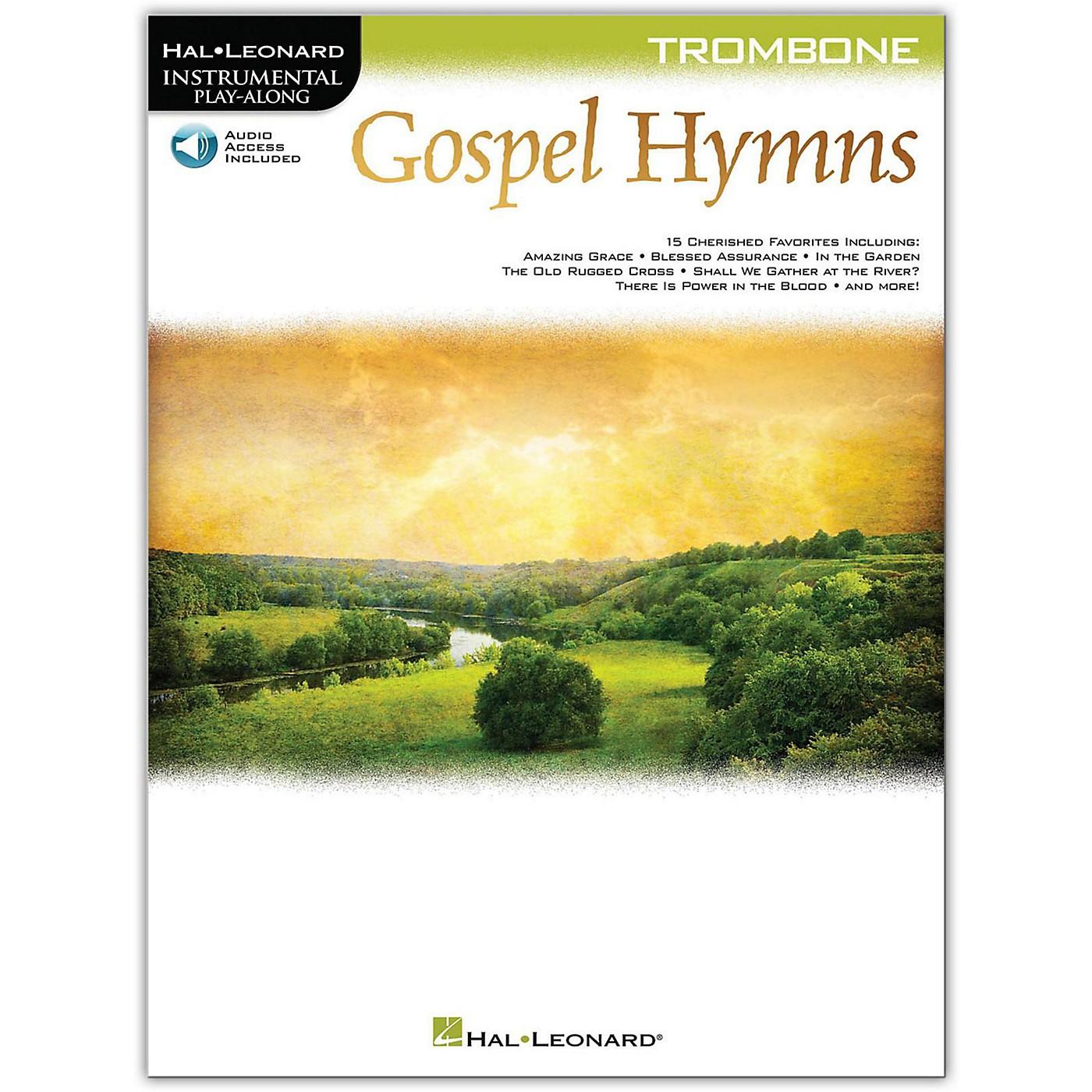 Hal Leonard Gospel Hymns For Trombone Instrumental Play-Along Book/Audio Online thumbnail