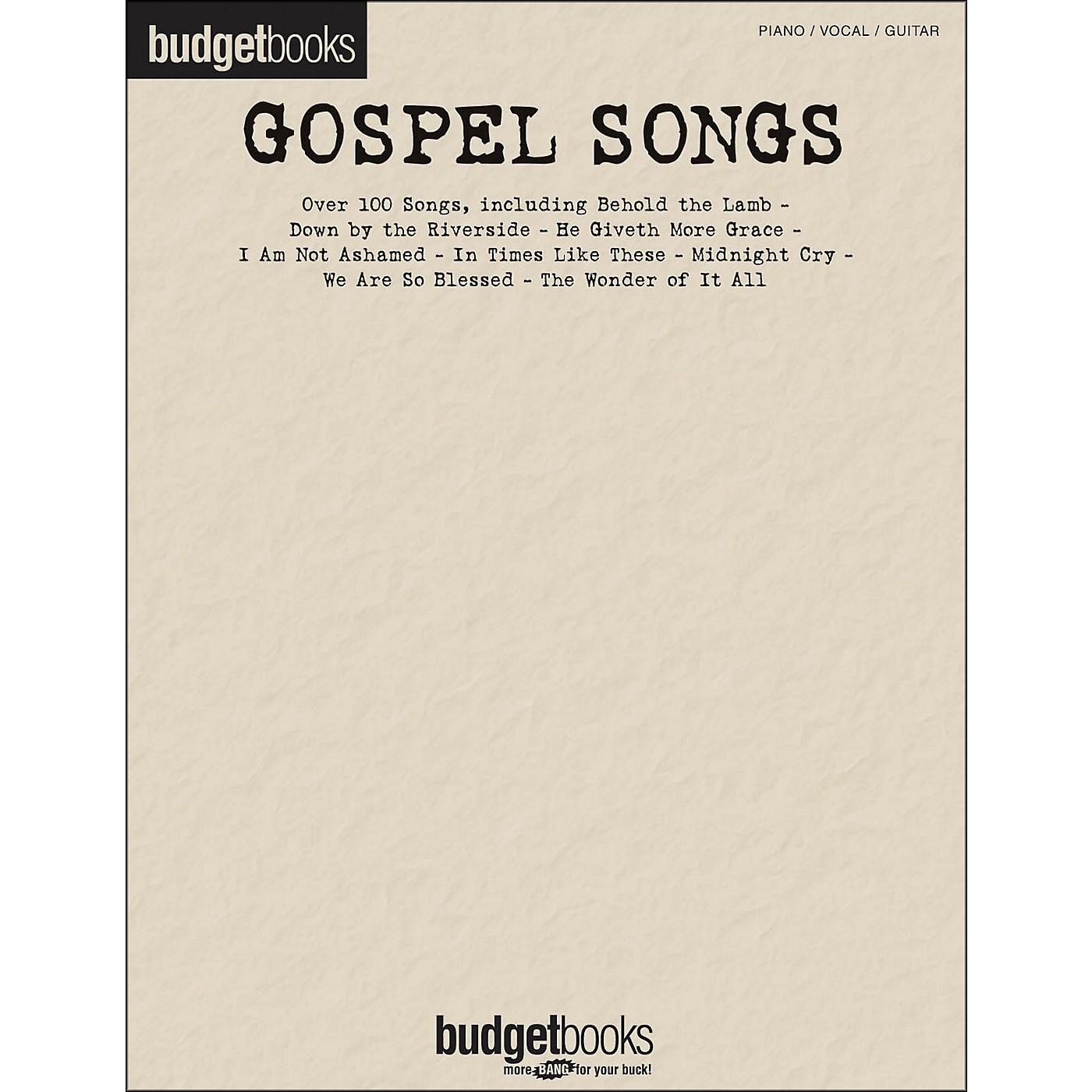 Hal Leonard Gospel Songs - Budget Books arranged for piano, vocal, and guitar (P/V/G) thumbnail